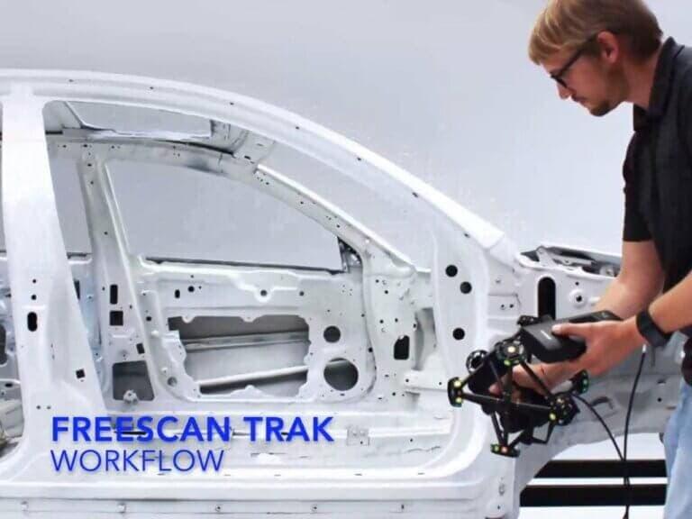 Velkoformátové metrologické 3Dskenování sbezdrátovým řešením FreeScan Trek