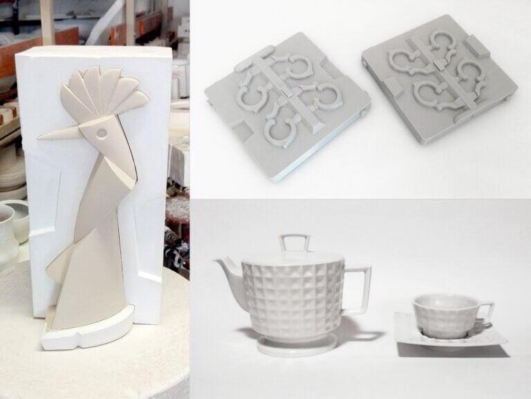 Originální porcelán z3Dtištěných forem