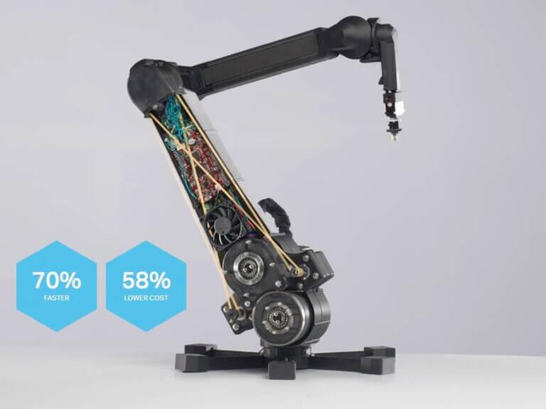 Sedmiosé robotické rameno s3Dtištěnou konstrukcí