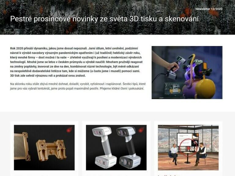 Pestré prosincové novinky zesvěta 3Dtisku askenování