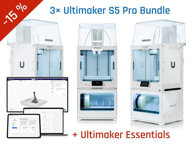 Podnikový balíček 3× Ultimaker S5 Pro Bundle